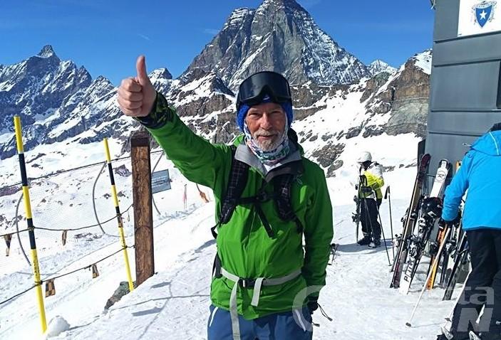 Scialpinista scomparso a Cervinia: l'appello dei familiari