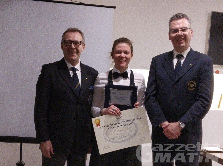 Sommellerie: Beatrice Cortese miglior sommelier valdostano