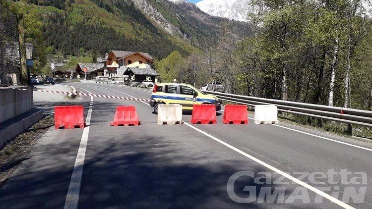 Pré-Saint-Didier, strada statale chiusa per lavori di messa in sicurezza