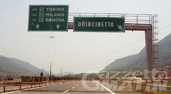 Allarme frana Quincinetto rientrato, riapertura parziale dell'autostrada