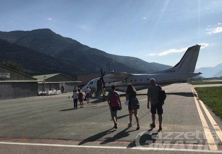Aosta-Olbia: 29 passeggeri in volo verso la Sardegna