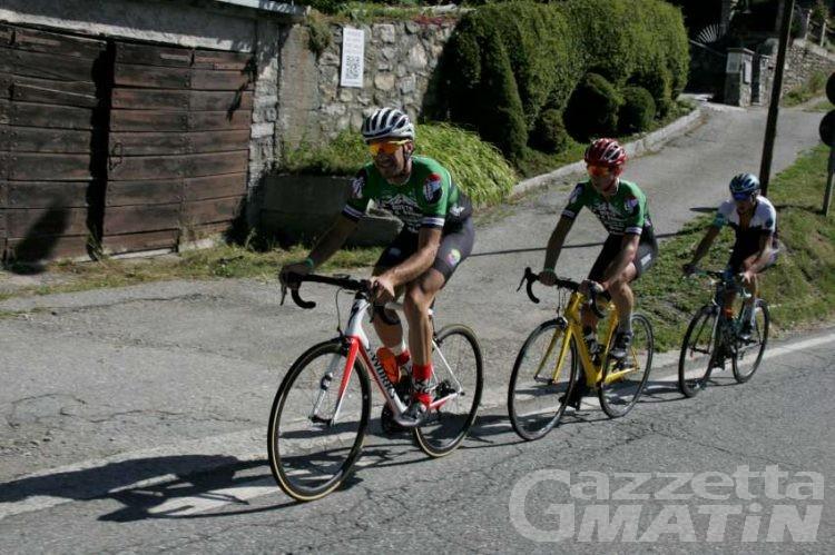 Ciclismo: Saravalle e Pino i più veloci al Gran San Bernardo