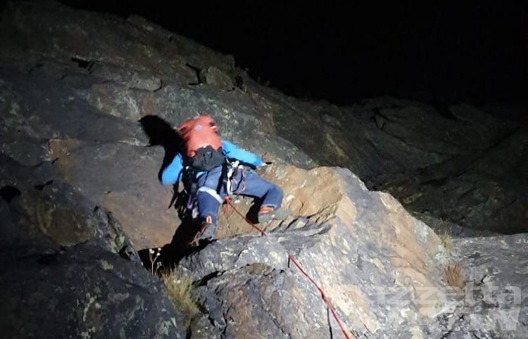 Alpinisti bloccati a Punta Pousset tratti in salvo nella notte