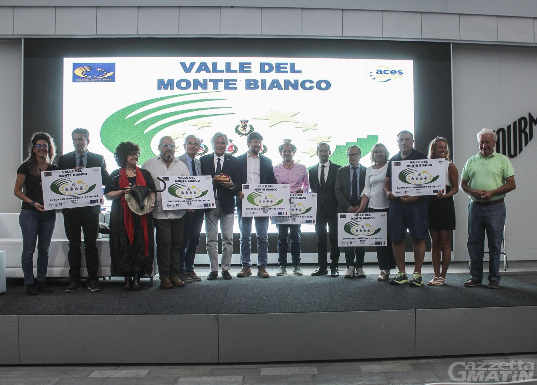 La Valdigne Mont Blanc è Comunità dello sport 2021