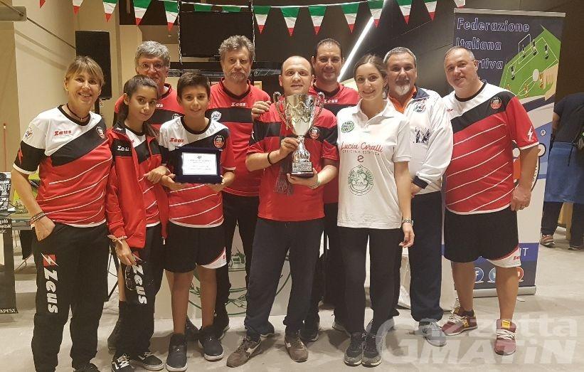 Subbuteo: l'Aosta Calcio Tavolo vince in Coppa Italia