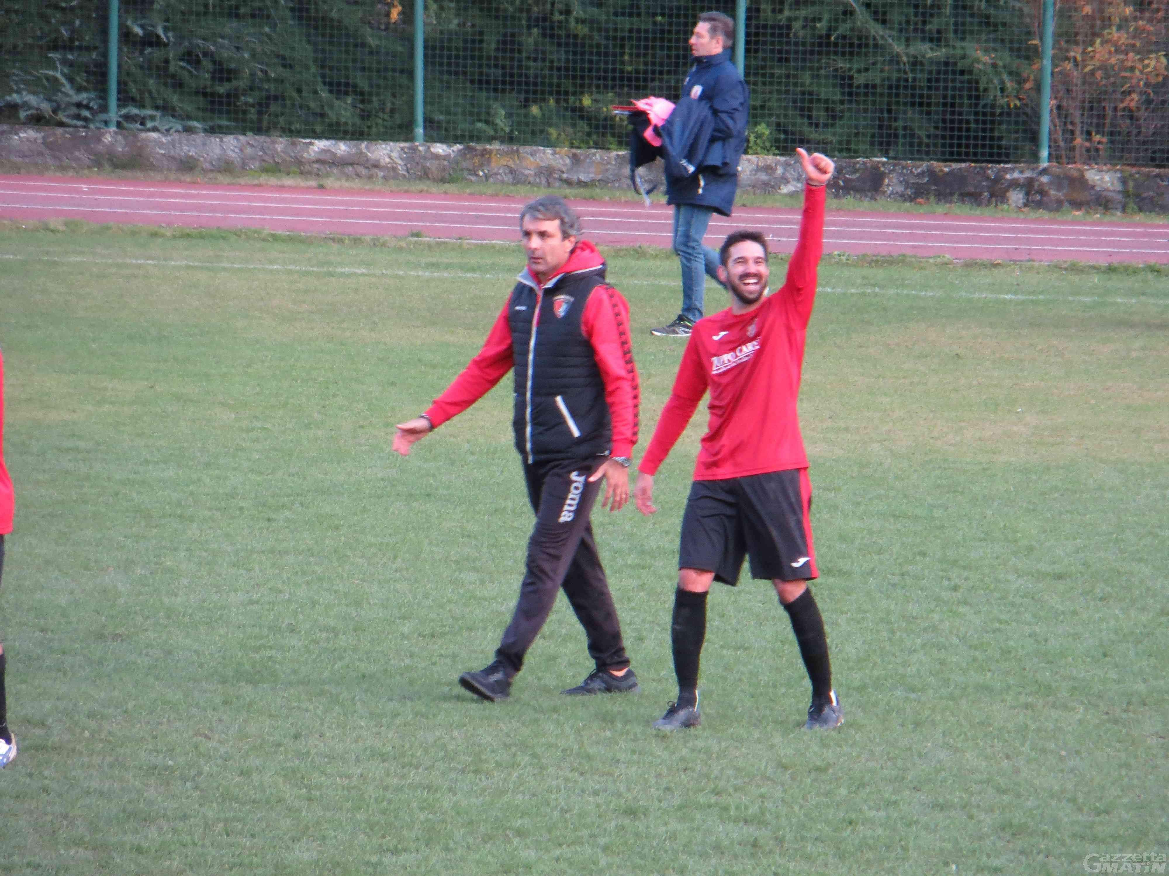 Calcio: l'Aygreville vince allo scadere e resta in vetta