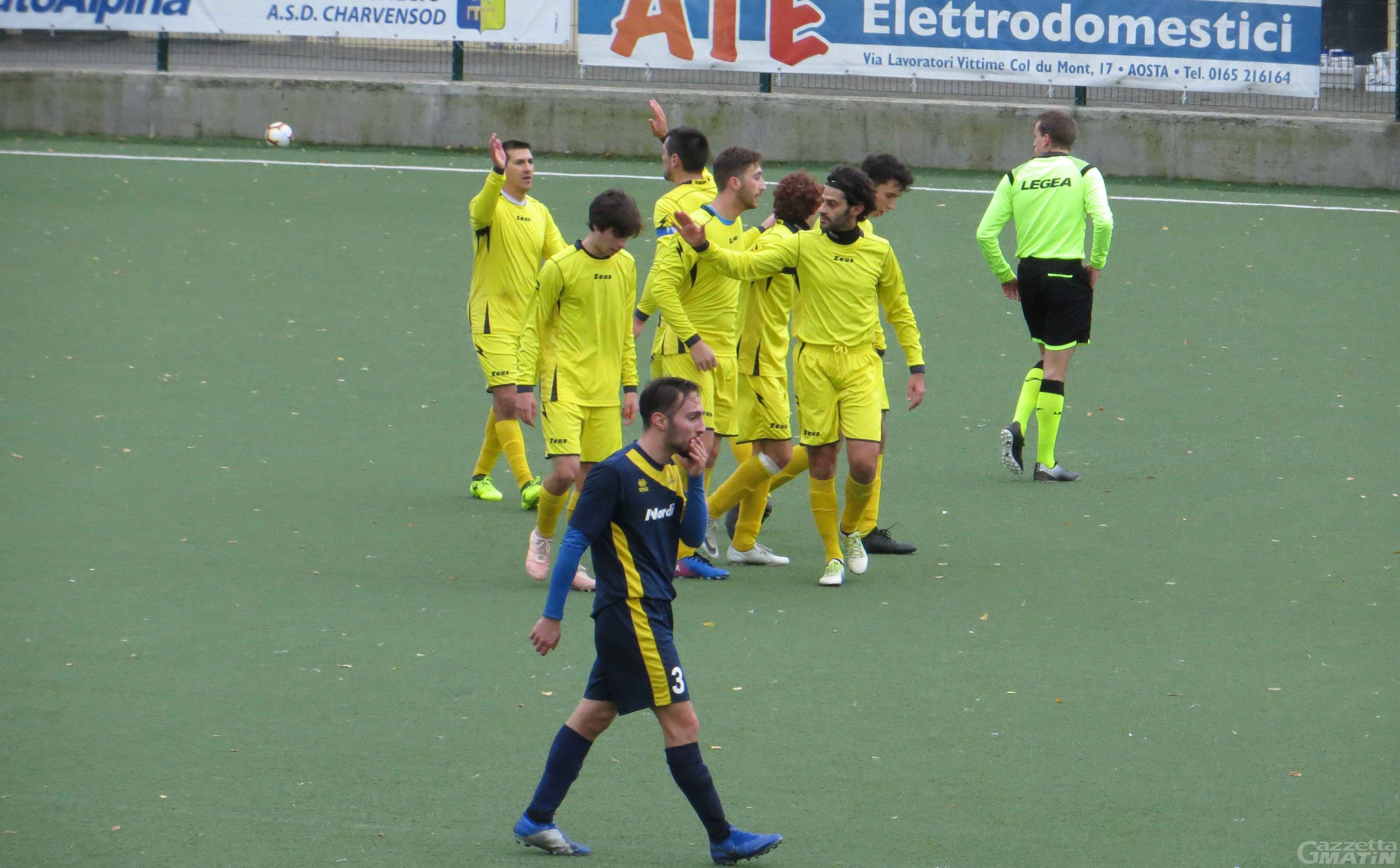 Calcio: cadono Aygre e P.D.H.A.E.; vince lo Charvensod
