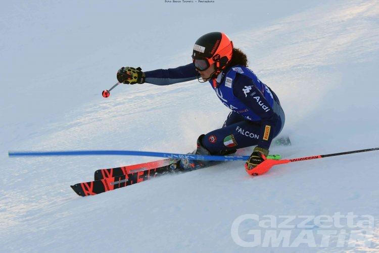 Sci alpino: Federica Brignone 14ª a metà gara a Levi