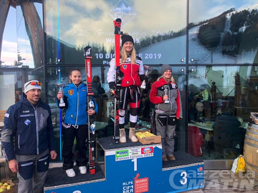 Sci alpino: Sophie Mathiou prima Aspiranti a Folgaria