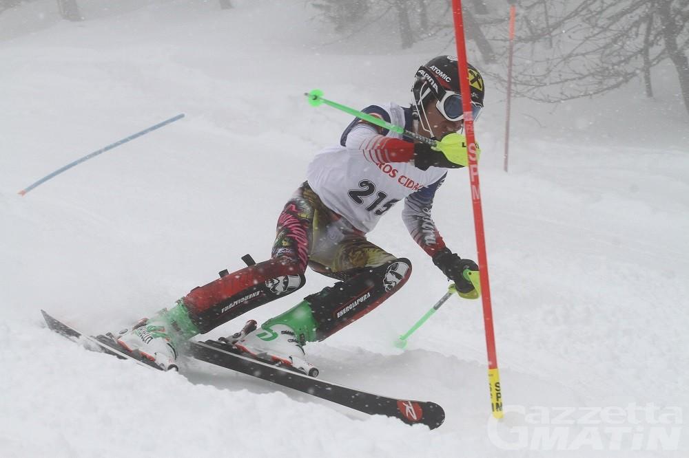 Yannick Lustrissy vince lo slalom Ragazzi del Challenge di Pila