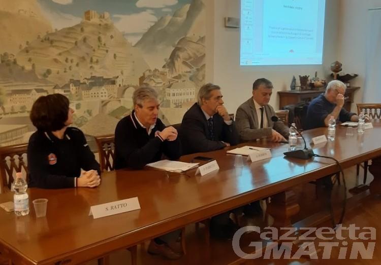 Frana Quincinetto: nuova cartellonistica e reti di contenimento