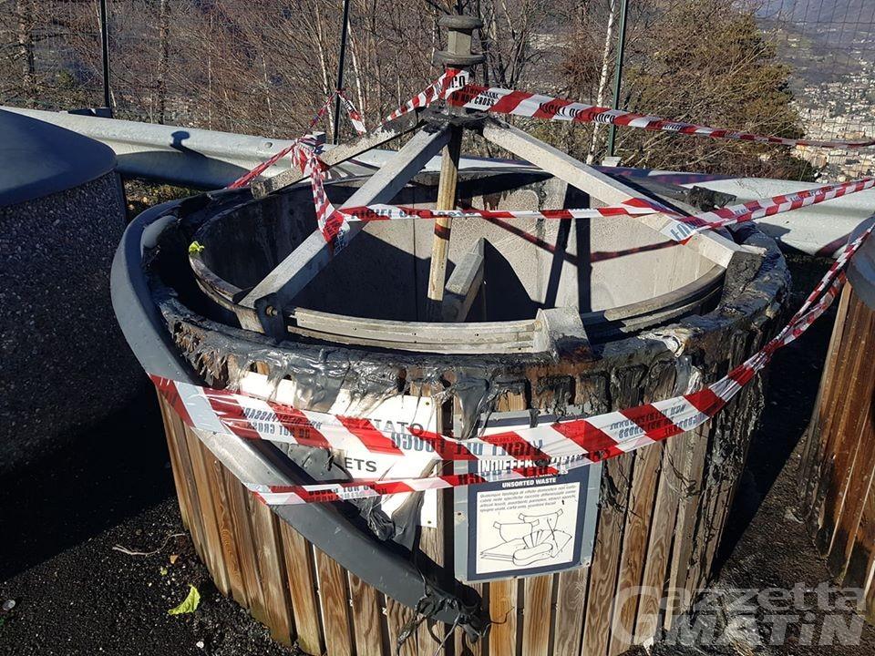 Molok in fiamme a Gressan, il sindaco: «Fare attenzione ai rifiuti che si depositano»