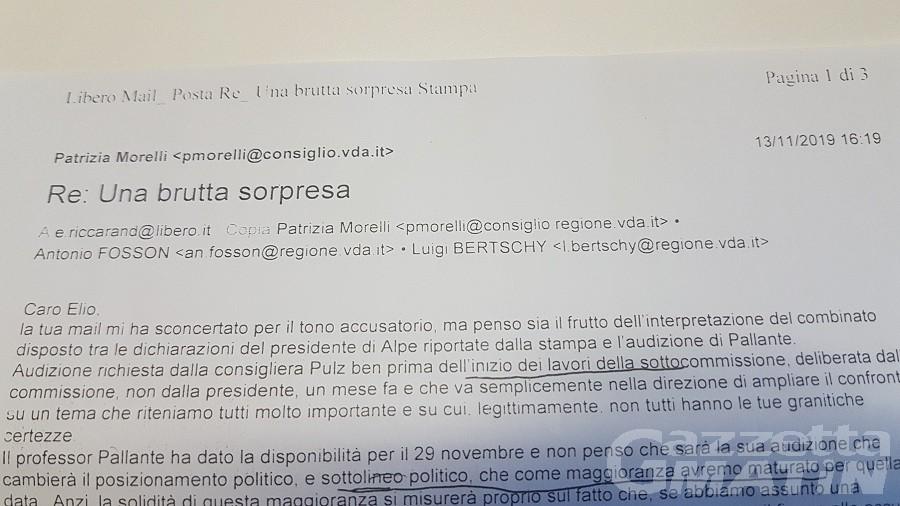 Scambio di mail su legge elettorale, Morelli: voglio andare a fondo