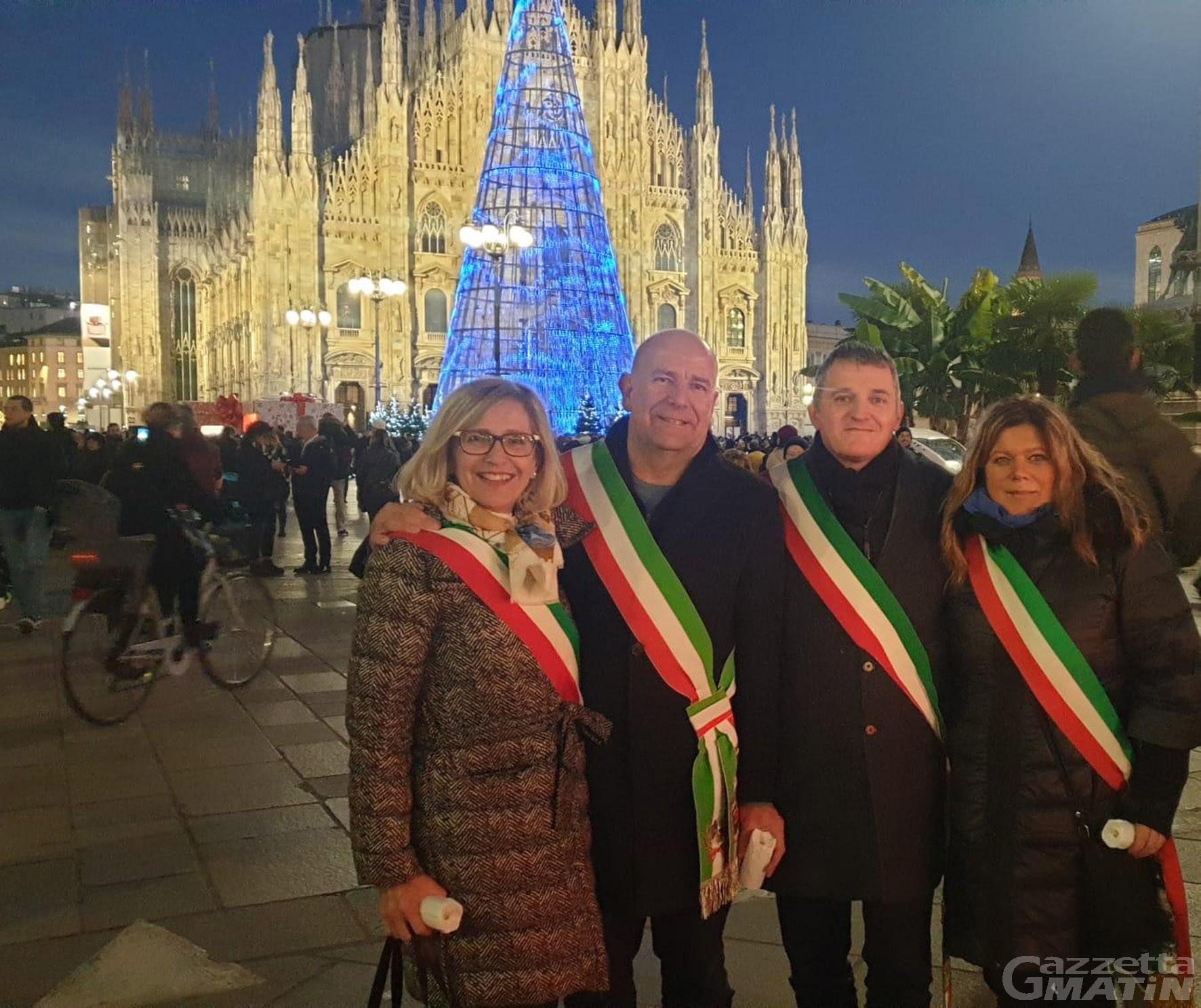 L'odio non ha futuro: in corteo a Milano anche quattro sindaci valdostani
