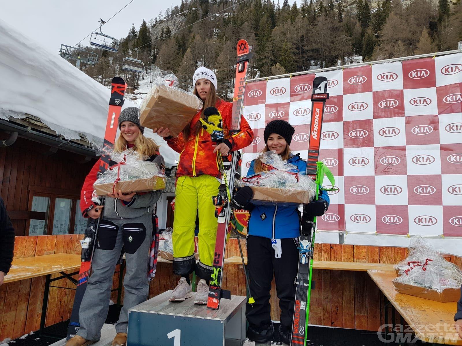 Sci alpino: Annette Belfrond seconda Aspiranti a Courmayeur