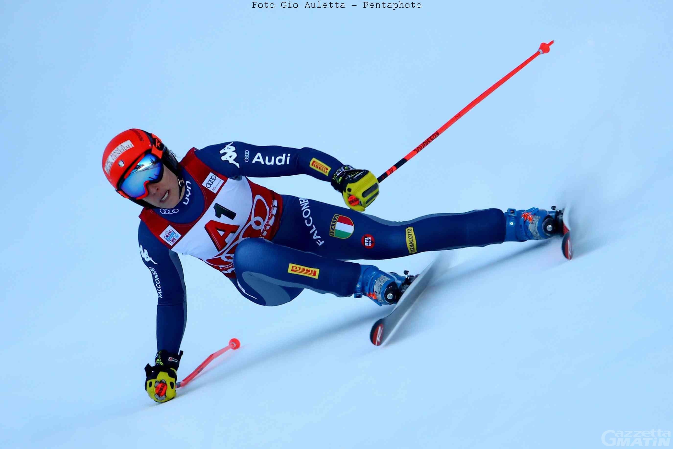 Sci alpino: Federica Brignone comanda al Sestriere