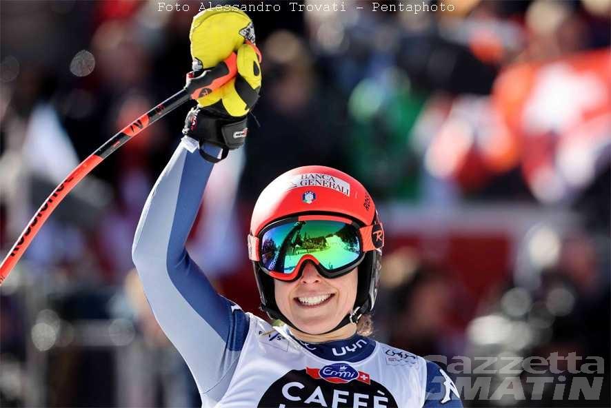 Sci alpino: Federica Brignone trionfa a Crans Montana