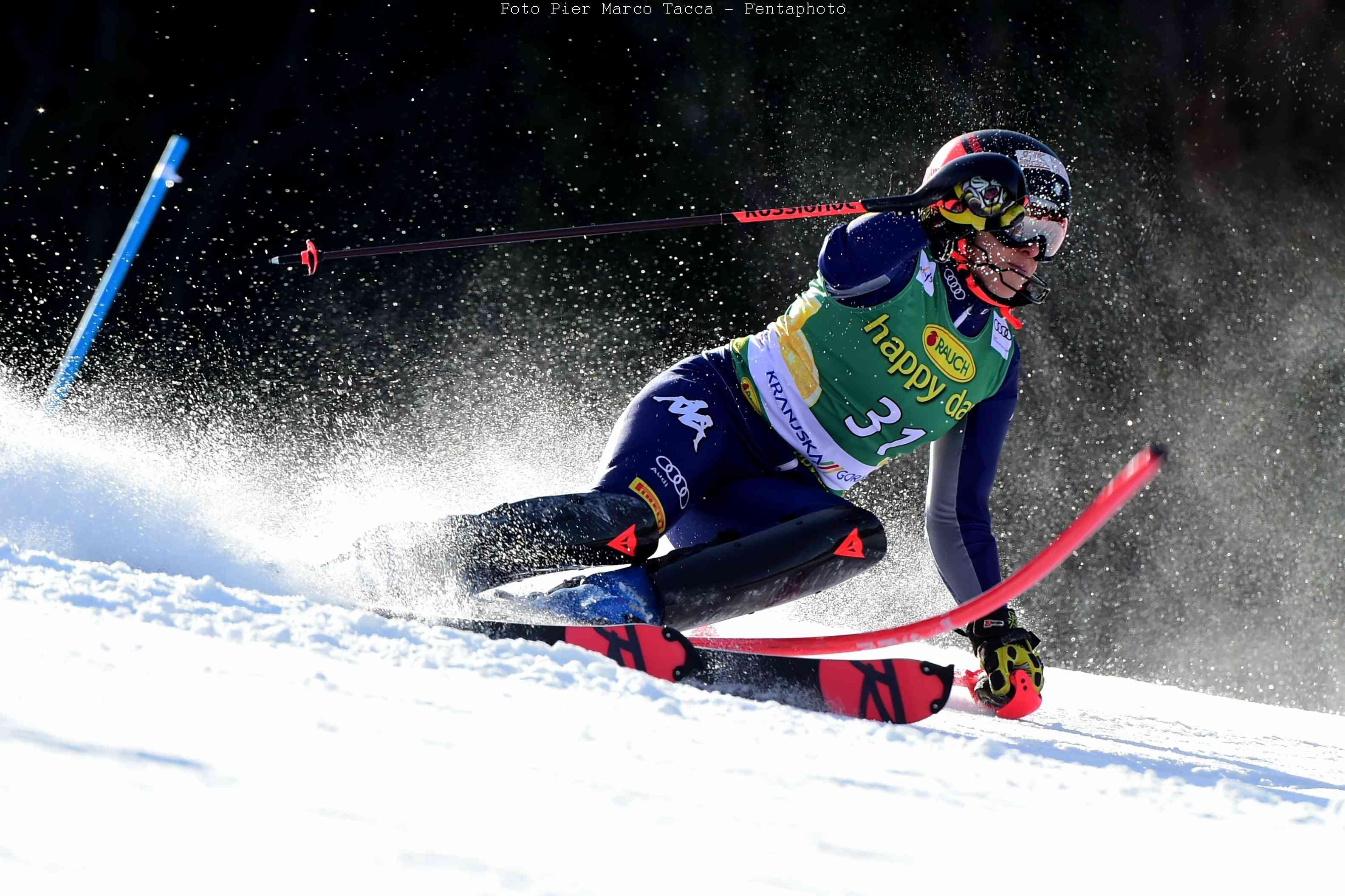 Sci alpino: Federica Brignone out a Kranjska Gora