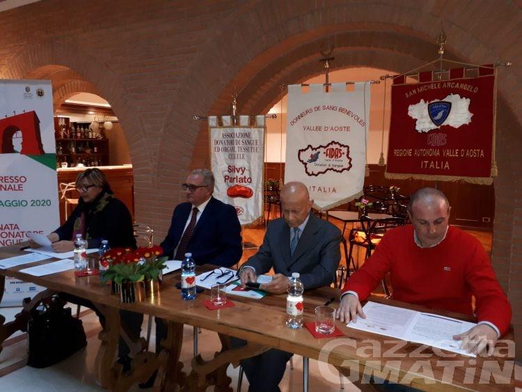 Fidas: il congresso nazionale per la prima volta in Valle d'Aosta. Ma calano i giovani donatori