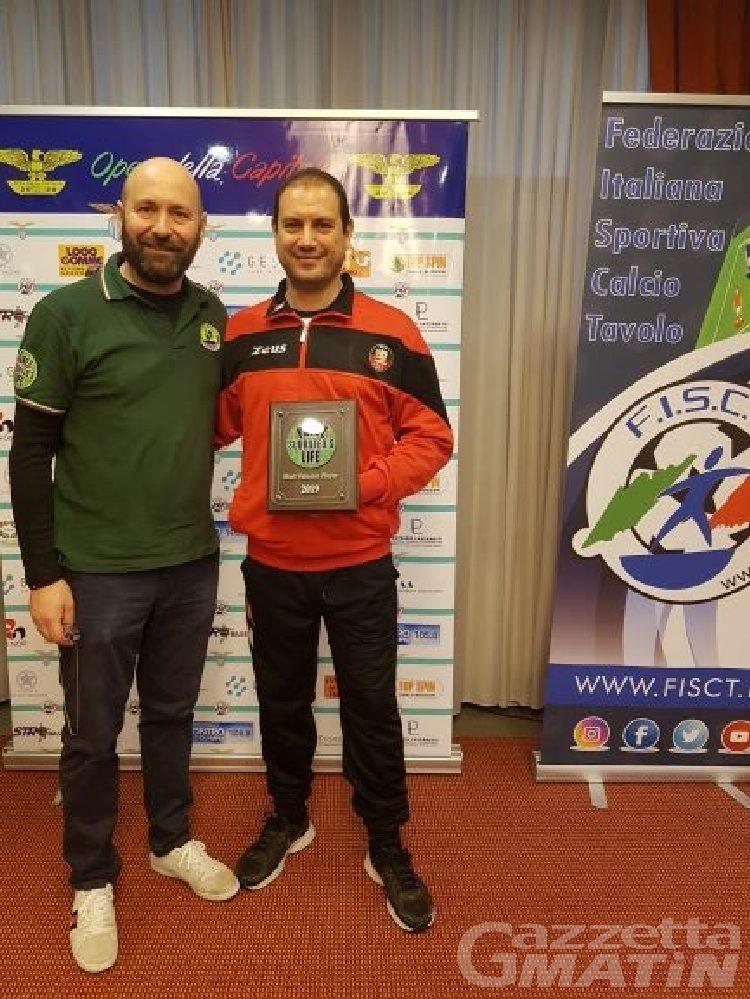 Calcio Tavolo: Filippo Filippella MVP della categoria Subbuteo
