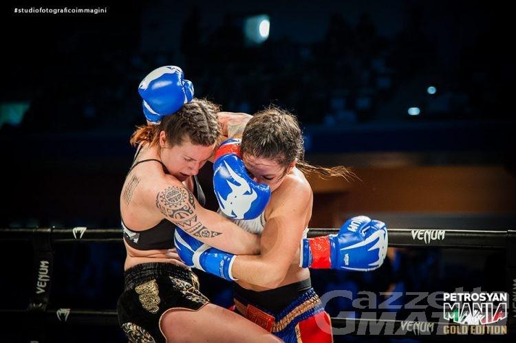 Combattimento: Martine Michieletto sul ring di Oktagon a Courmayeur