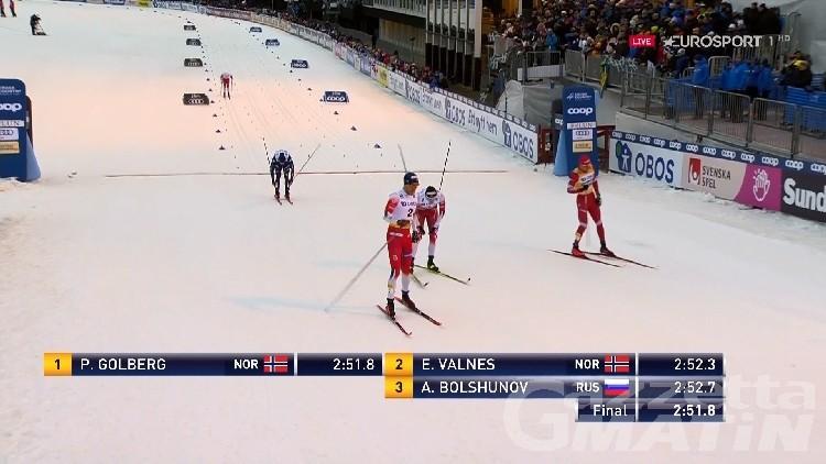 Fondo: Pellegrino quarto nella sprint di Falun