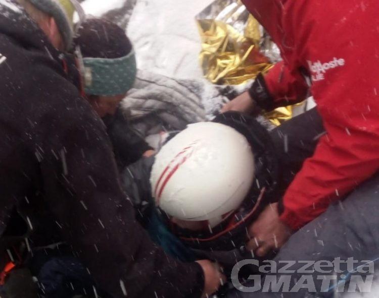Gressoney, bimbo di 9 anni cade in fuoripista. Ricoverato all'ospedale di Torino