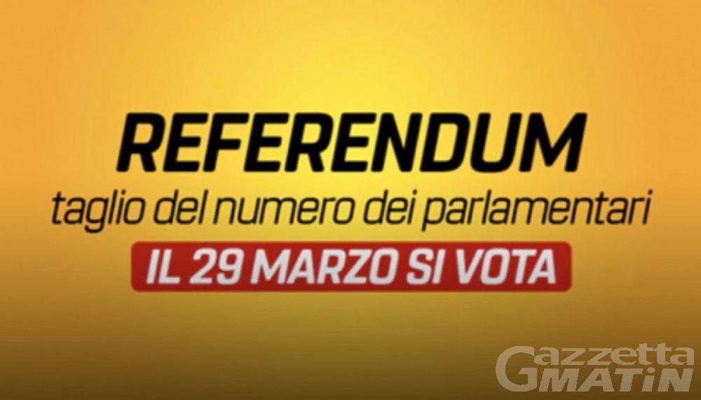 """Referendum 29 marzo:  """"No al taglio dei parlamentari"""", appello per la costituzione di un comitato valdostano"""