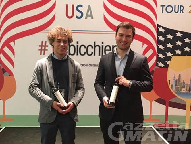 Vino: l'azienda Rosset di Quart premiata con Tre Bicchieri all'Usa Tour