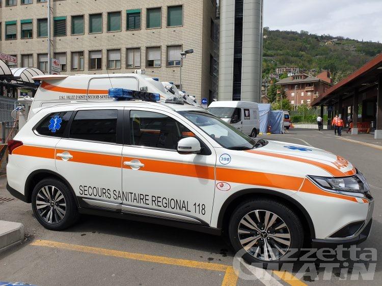 Nuova auto medica con ventilatore polmonare per il 118 della Valle d'Aosta