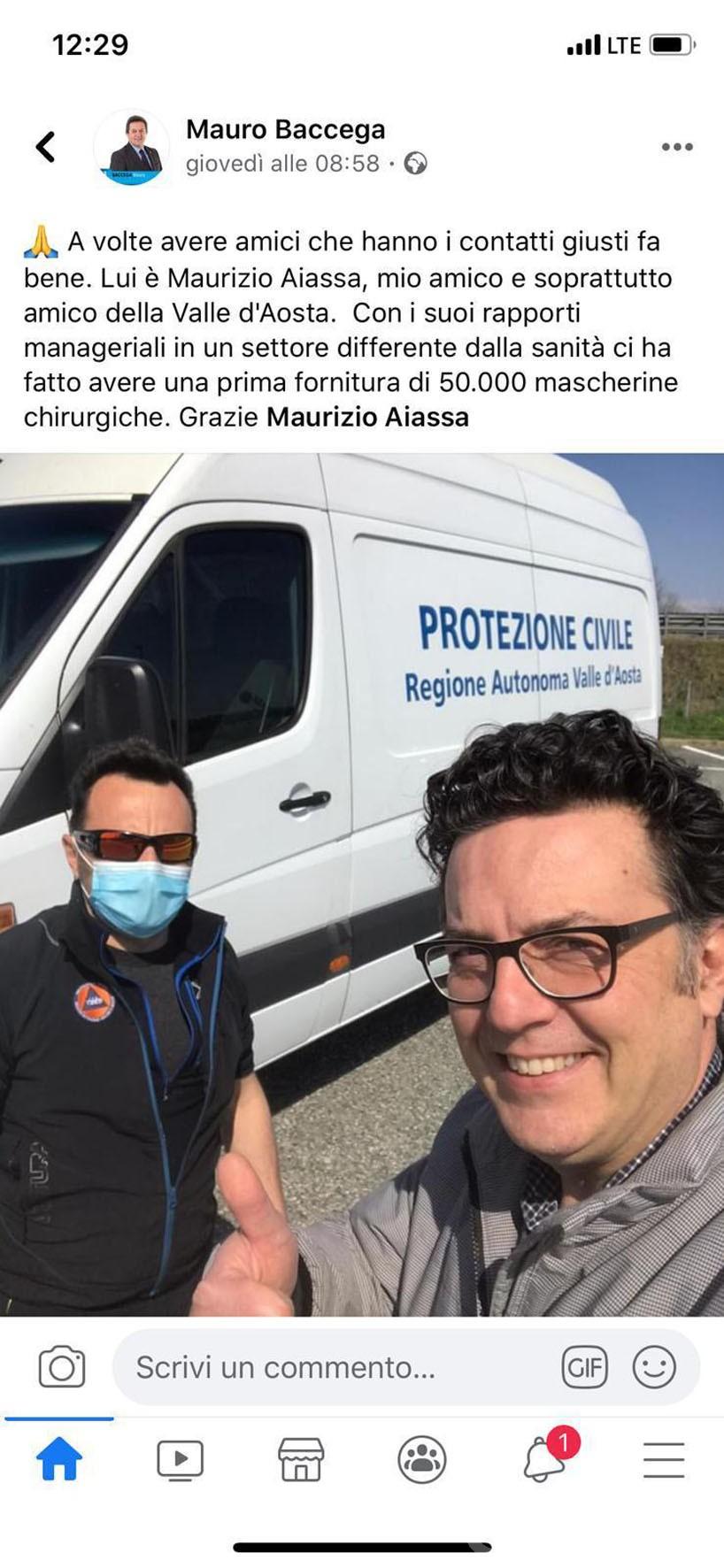 Coronavirus: 50 mila mascherine arrivate? Pio Porretta: «non ne so nulla»;  Baccega: «tutto regolare»