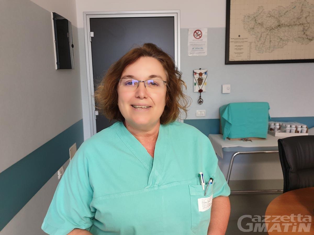 Sanità, la dottoressa Daniela Pagani direttrice della struttura OBI di Aosta
