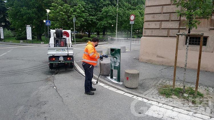 Coronavirus, Aosta: pulizie e sanificazioni di strade e vicoli avviate il 2 marzo