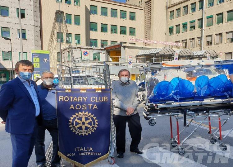 Il Rotary Club Aosta dona una barella per biocontenimento all'ospedale Parini