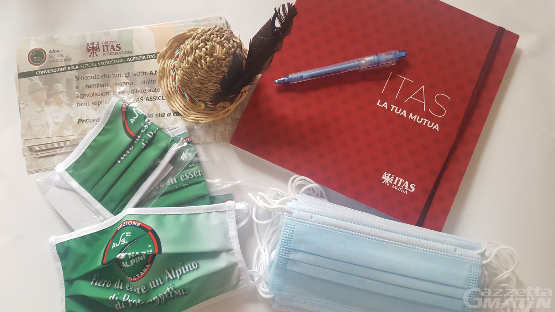 Coronavirus: dall'Itas 3.000 mascherine per i volontari dell'Ana