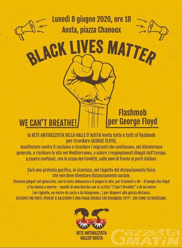 Rete antirazzista: un flashmob ad Aosta per commemorare George Floyd
