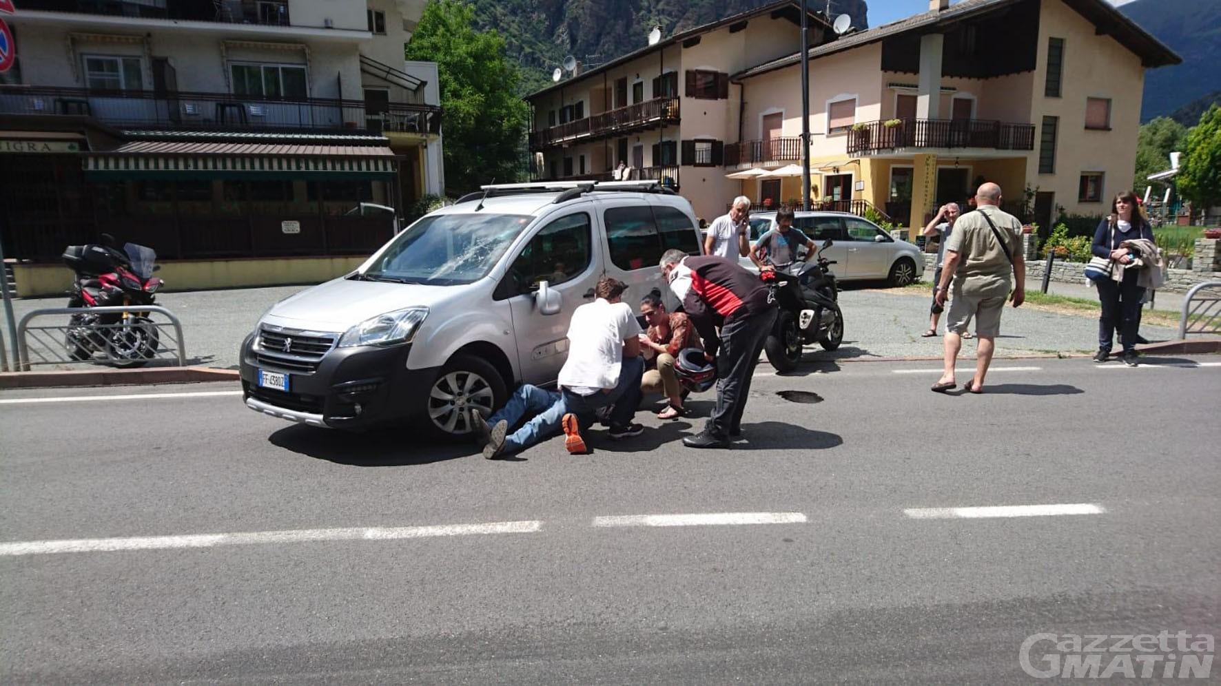 Incidenti stradali: impatto tra auto e moto a Montjovet