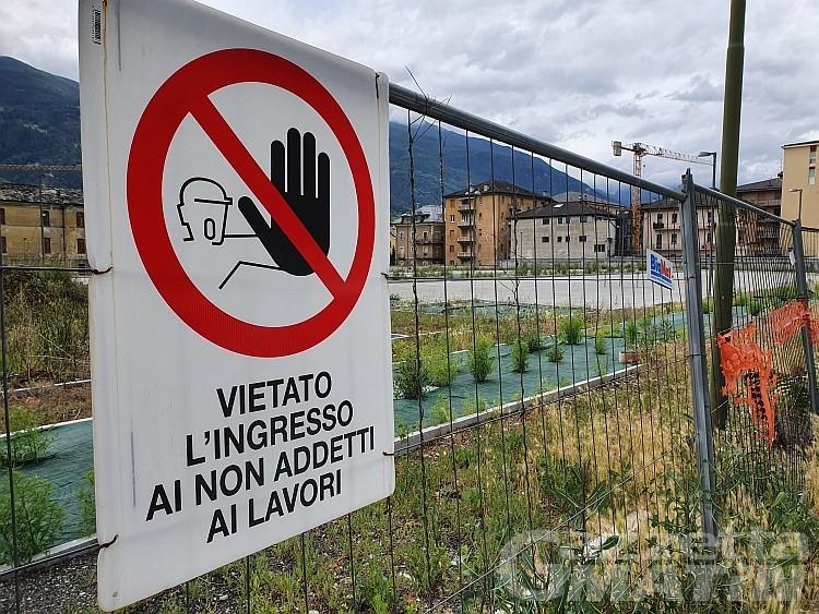 Aosta, NUV: primo lotto finito per il settembre 2021