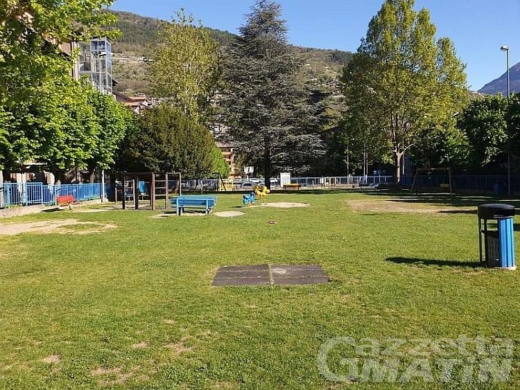 Aosta: l'intervento di Quendoz fa riaprire i parchi gioco
