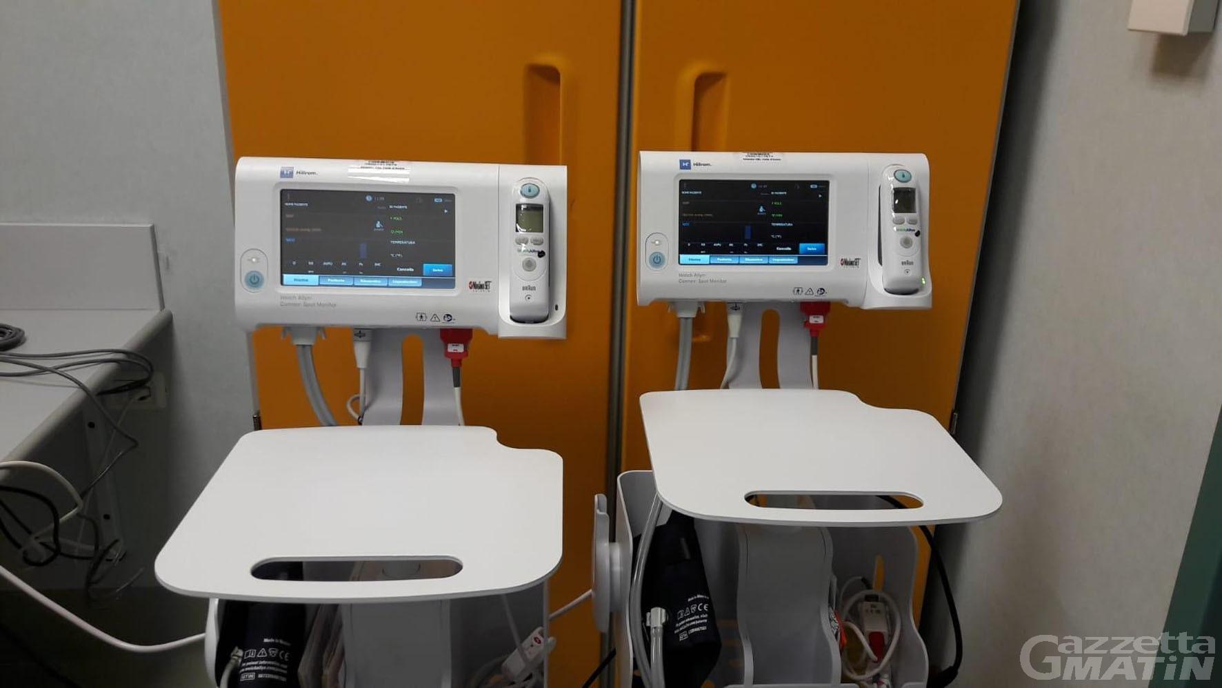 Sanità: l'Unione guide ha donato due monitor  multiparametrici all'ospedale Parini