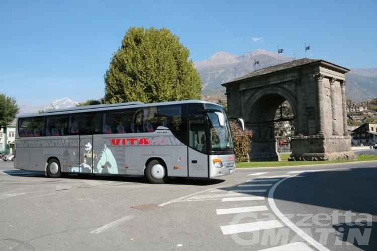 Trasporti: da venerdì 10 luglio, bus gratuito notturno Aosta-Pont-Saint-Martin