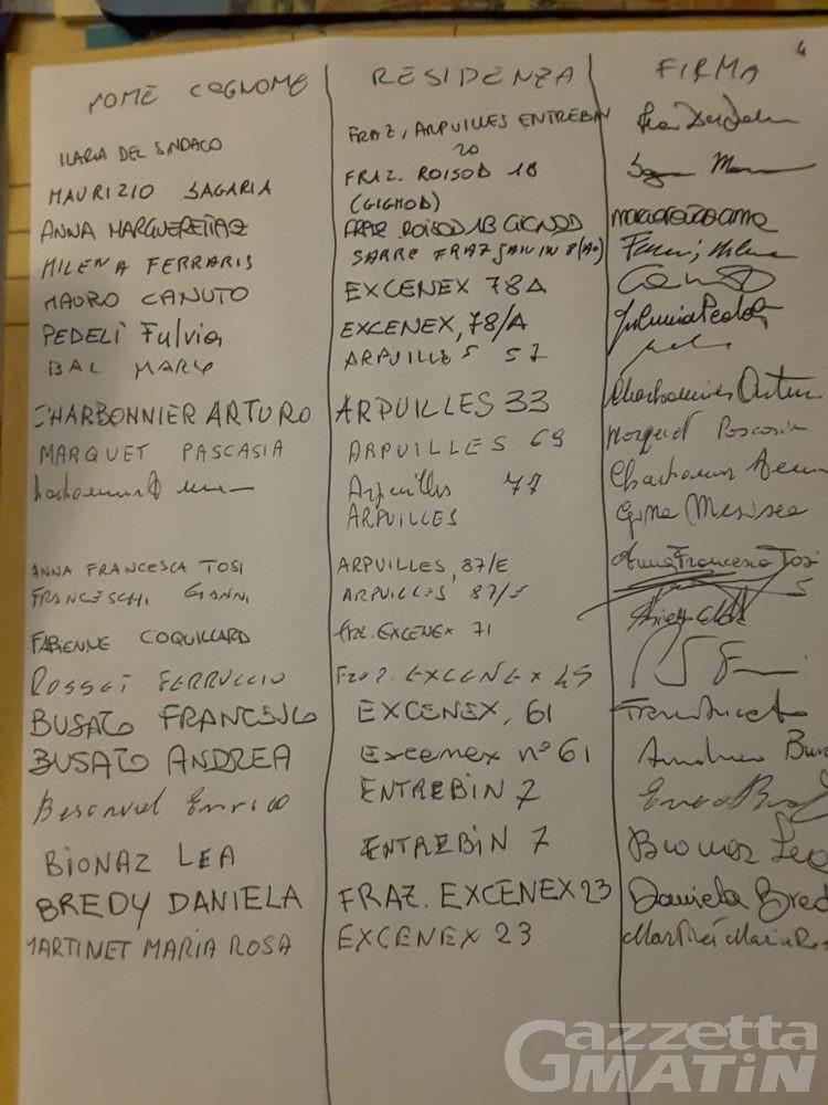 Aosta: oltre cento firme per l'ultimazione del giardinetto di Excenex