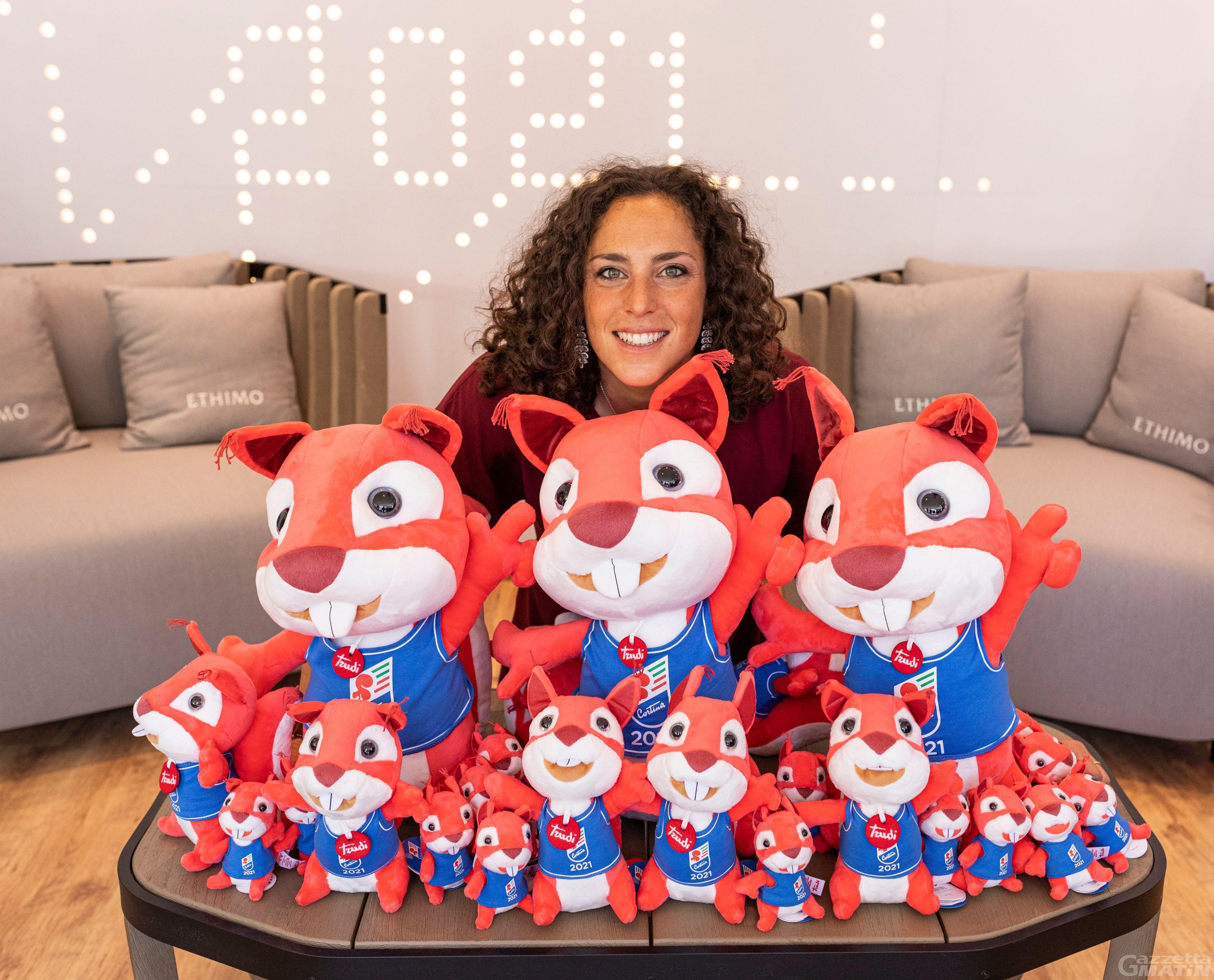 Federica Brignone ambassador di Corty, la mascotte dei Mondiali di sci di Cortina del 2021