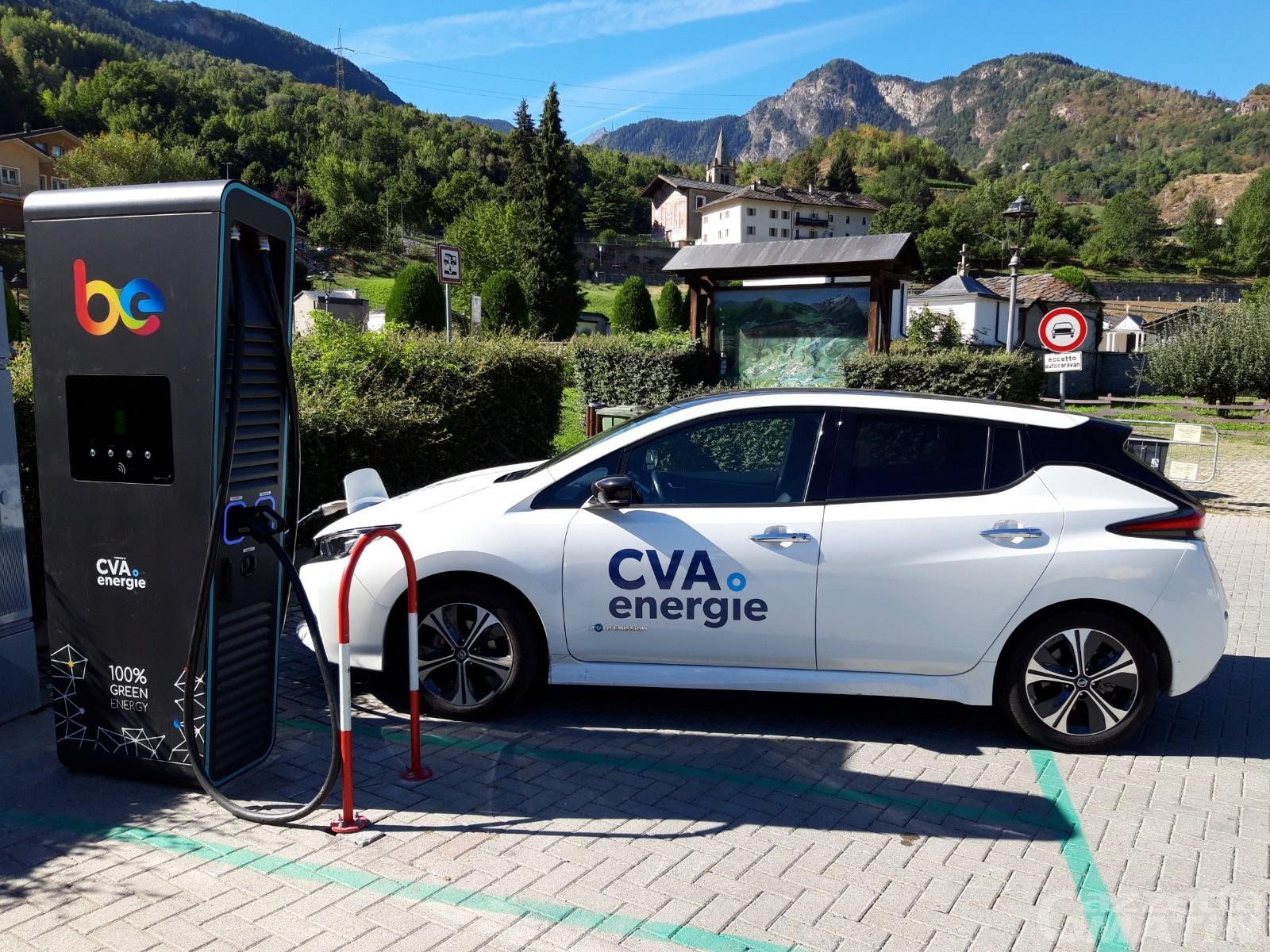 Aymavilles, installate nuove colonnine di ricarica per auto elettriche