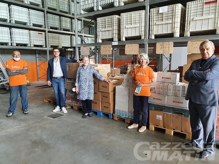 Banco alimentare: Confindustria dona otto bancali di prodotti