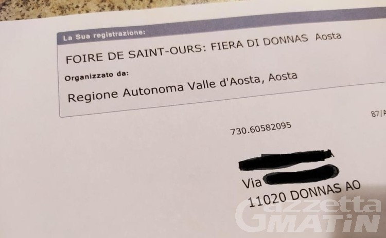Fiera di sant'Orso Donnas: attenzione alla truffa da 1200 euro