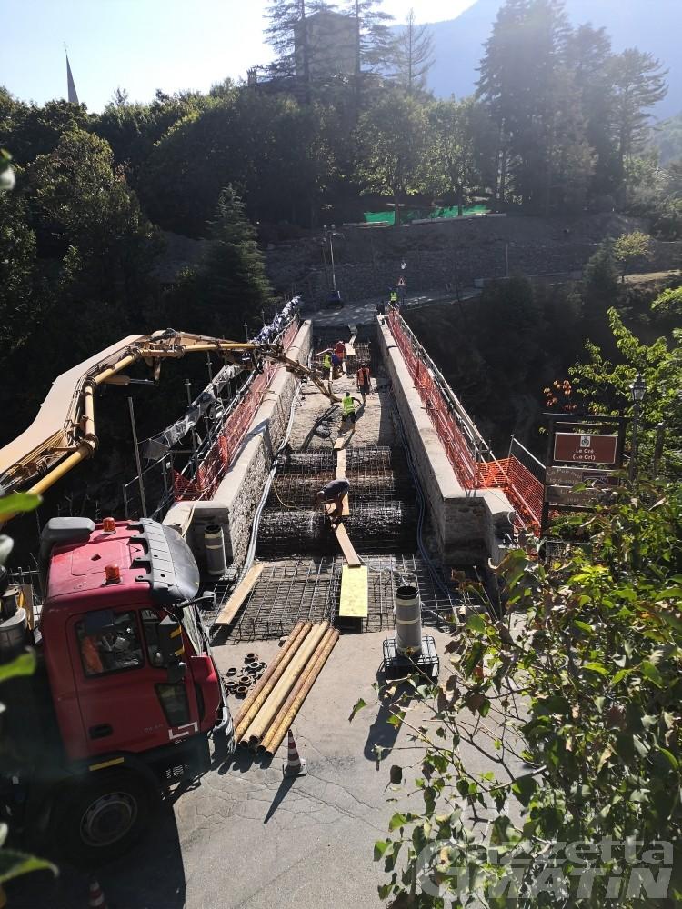 Introd: lavori a tempo di record, domani riapre il ponte