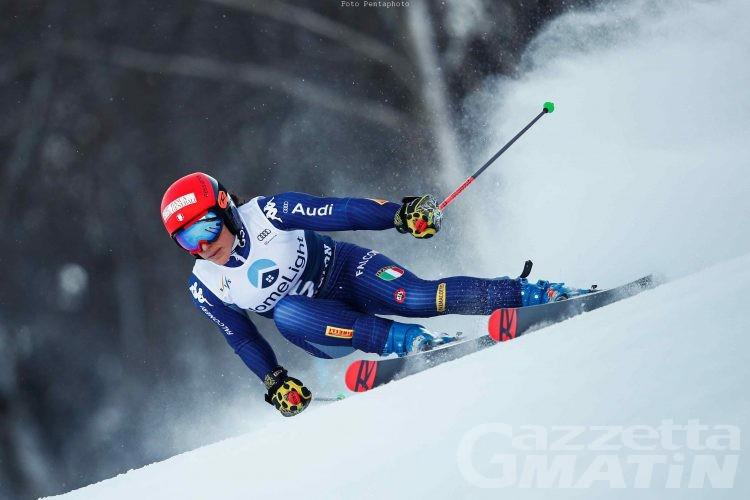 Sci alpino: Federica Brignone seconda a metà gara a Soelden