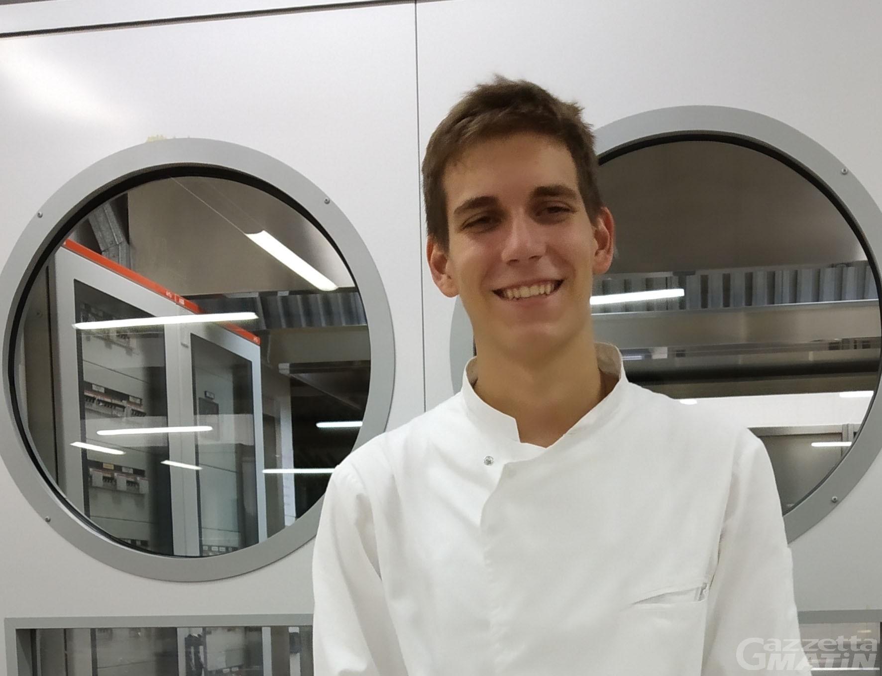 Matteo Cignetti vince il concorso 'Inventa il dolce di Châtillon' con 'Polline'