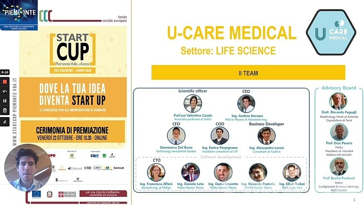 U-Care Medical vince la Start Cup Piemonte Valle d'Aosta
